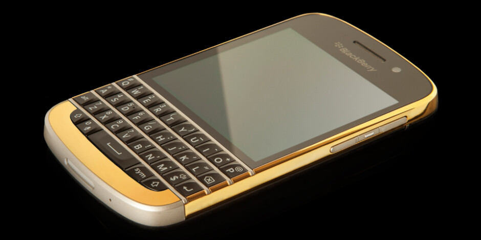 BlackBerry Q10 with 24ct. gold bezel - 24 carat gold BlackBerry Q10 now available, costs $2500