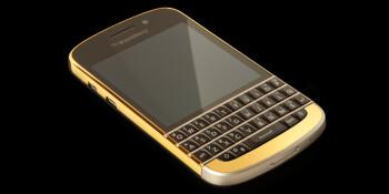 BlackBerry Q10 with 24ct. gold bezel