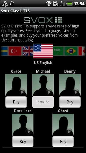 SVOX Classic Text To Speech Engine