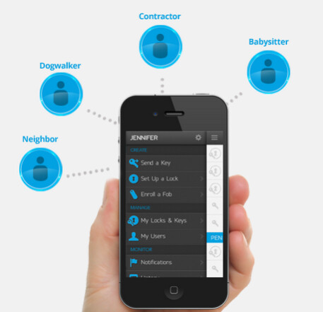 Kevo uses your Apple iPhone to unlock your front door