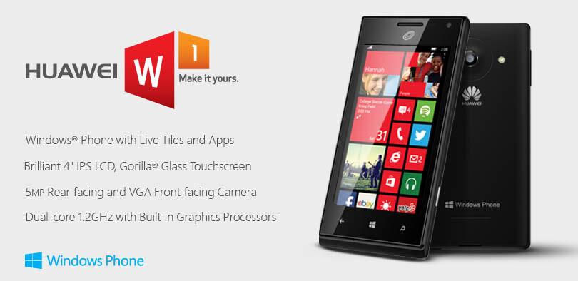 Huawei brings its first WP8 phone the Ascend W1 to Walmart, pairs it with 30-day unlimited plan