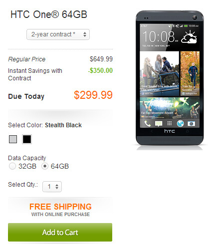 AT&T now has the Stealth Black version of the HTC One in both 32GB and 64GB models - HTC One in Stealth Black now available online at AT&T in both 32GB and 64GB variants