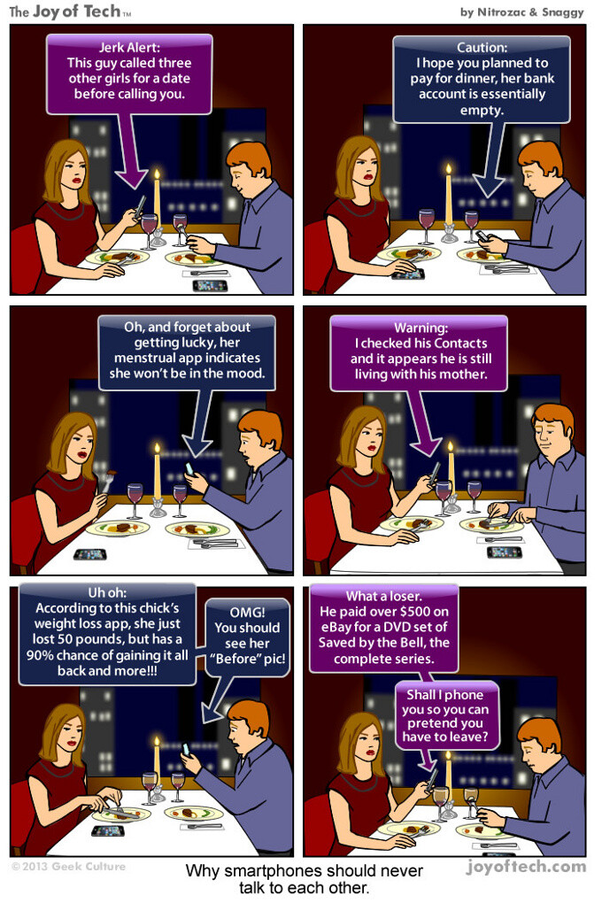 If smartphones could talk to each other, they'd ruin every date (comic)