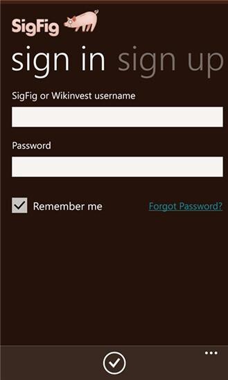 SigFig for Windows Phone