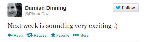 """Dinning can't wait for May 14th - Dinning says next week's Nokia event is """"sounding very exciting"""""""