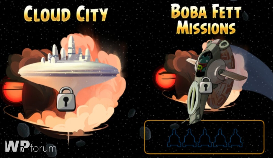 Two new levels have been added to the Windows Phone version of Angry Birds Star Wars - Angry Birds Star Wars gets update for Windows Phone, adds Cloud City and Bobba Fett levels