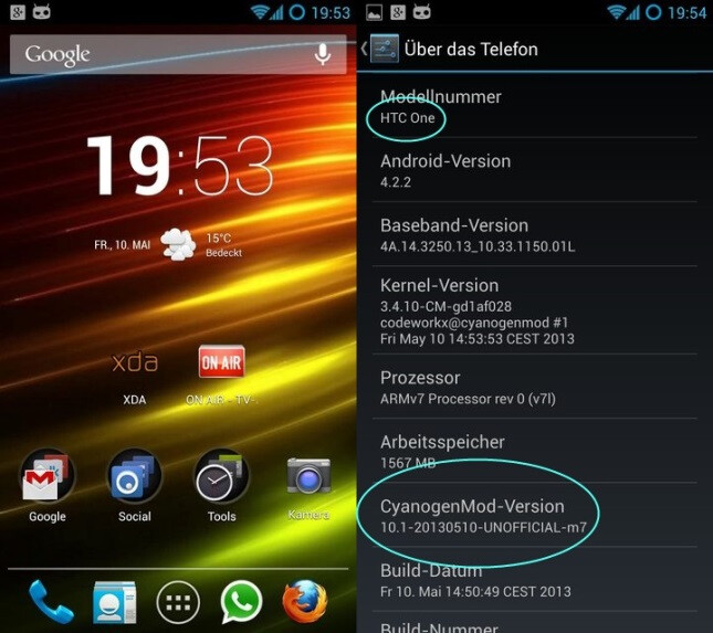 CyanogenMod 10.1 nightly builds of stock Android 4.2 now available for the HTC One