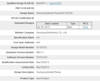 Samsung Galaxy Ace III clears Bluetooth SIG certification