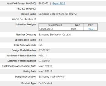 Samsung Galaxy Ace III clears Bluetooth SIG certification