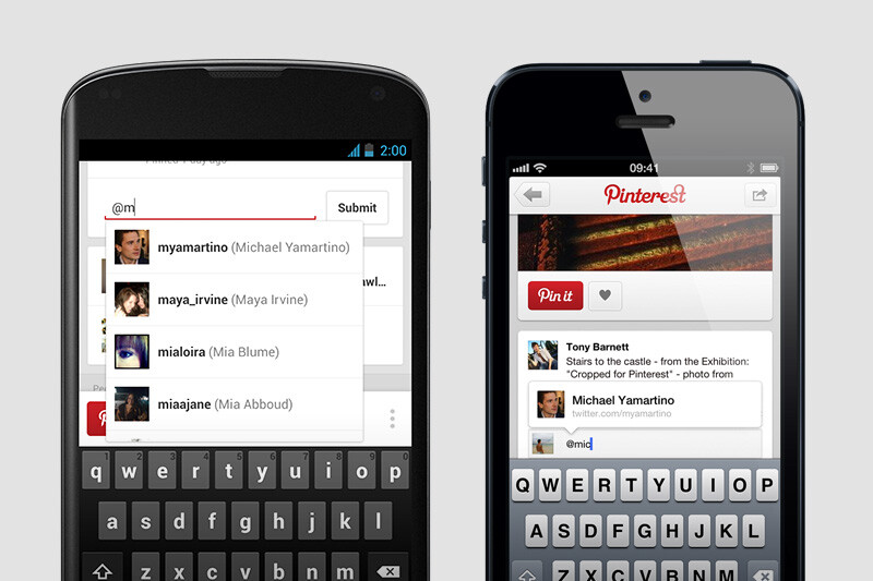 Pinterest app for ios and android both receive update - Pinterest mobel ...