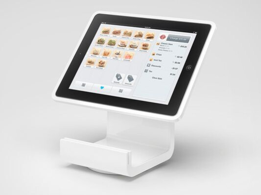 The Square Stand turns an Apple iPad into a POS system - Turn your Apple iPad into a POS device with Square Stand