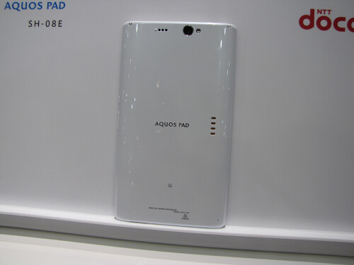 Sharp Aquos Pad back
