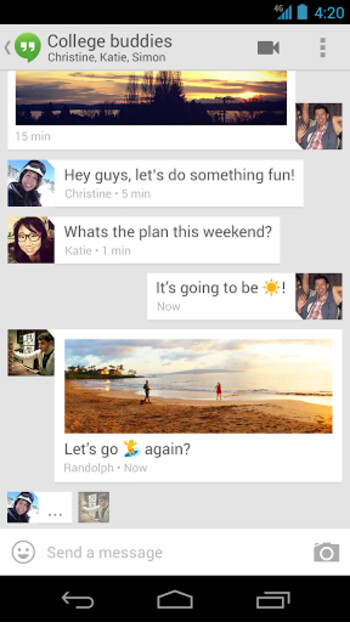 Hangouts for Android, iOS, and Chrome is now live