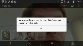 Users on AT&T unable to use Google+ Hangouts video chat over cellular