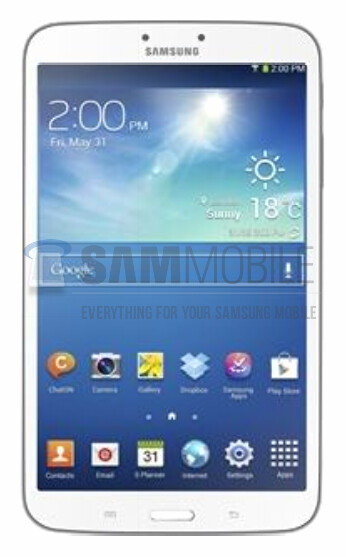 Leaked picture of the Samsung Galaxy Tab 3 8.0