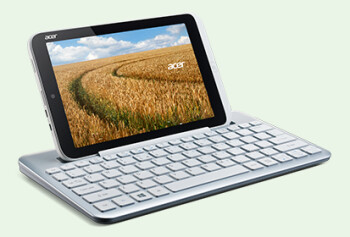 The Acer W3 is an 8.1 inch Windows 8 Pro tablet