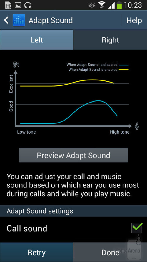 Set up Adapt Sound on the Samsung Galaxy S4