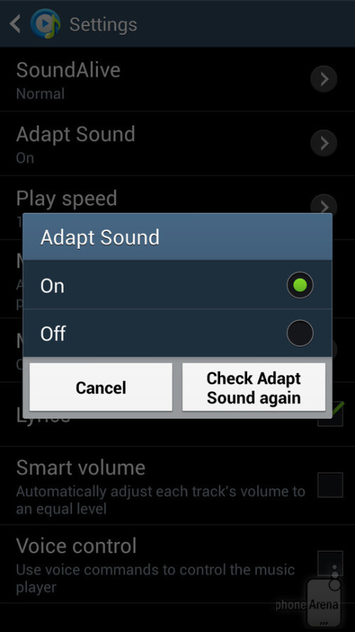 Make your Samsung Galaxy S4 sound better using Adapt Sound