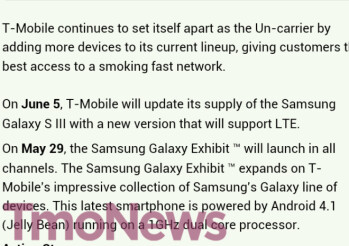 This leaked internal T-Mobile message gives us a launch date for two Samsung Galaxy models