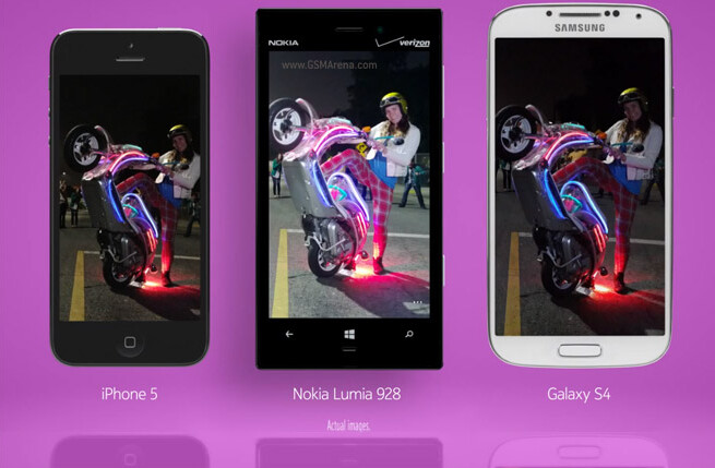 Comparing the low-light capabilities on a trio of high-end phones - Ad compares low-light photography on Nokia Lumia 928 with Apple iPhone 5 and Galaxy S4