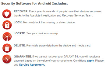 LoJack will be available for the Samsung Galaxy S4