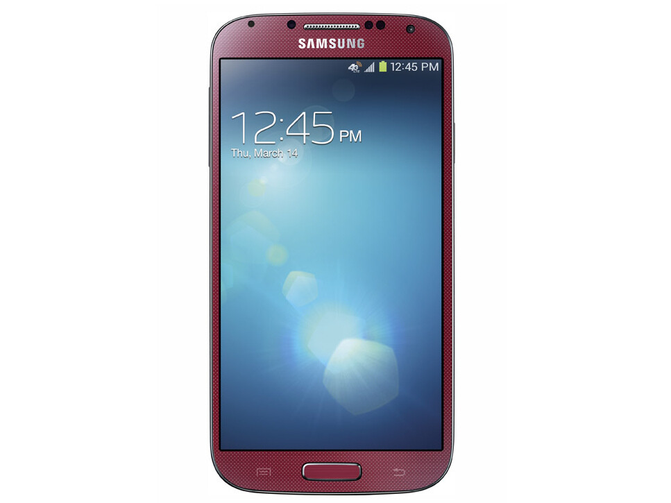 atampt to release an aurora red galaxy s4 on june 14