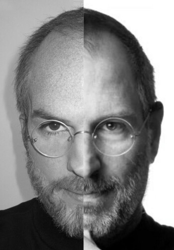 Which side is Steve Jobs and which side is Ashton Kutcher?