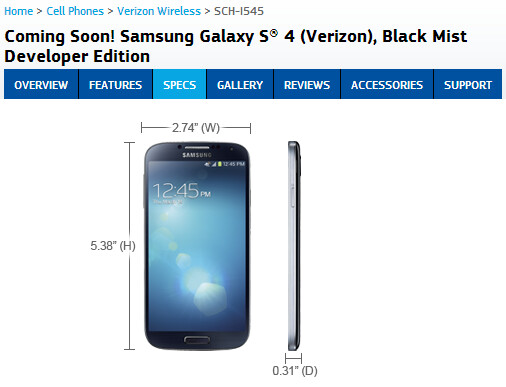 The Samsung Galaxy S4 Developer Edition is coming - Samsung Galaxy S4 Developer Edition coming to Verizon and AT&T