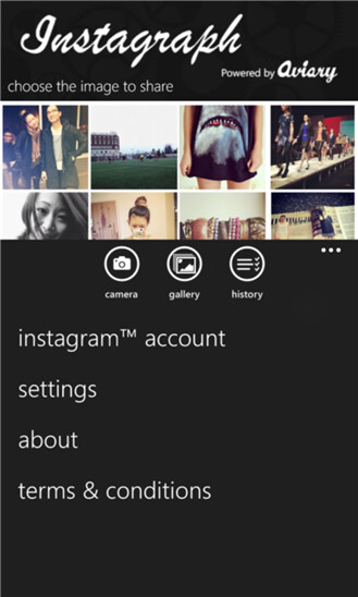 Screenshots of updated Instagraph - Instagraph gets integrated with Metrogram for that whole Instagram experience on Windows Phone 8