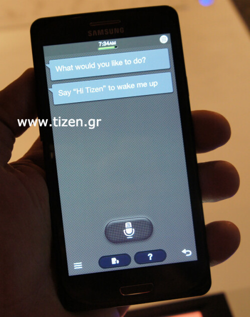The first Tizen phone Samsung Redwood leaks out, S-Voice responds to 'Hi, Tizen' now