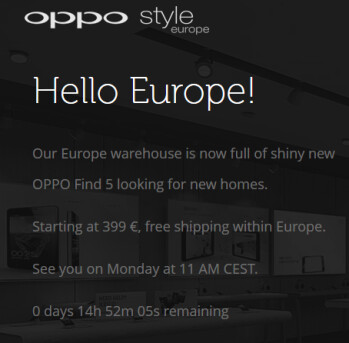 The Oppo Find 5 (R) comes to Europe on Monday