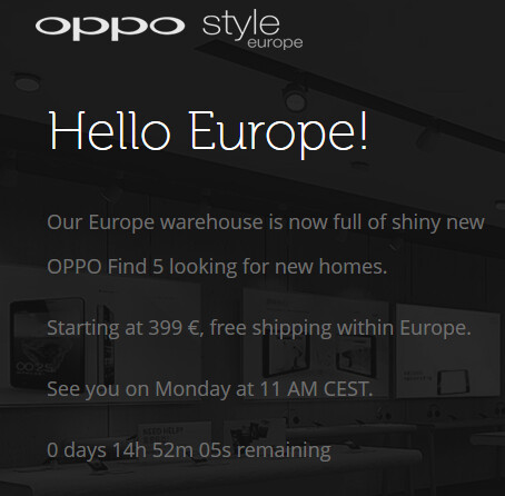 The Oppo Find 5 (R) comes to Europe on Monday - Starting Monday, you'll find the Oppo Find 5 in Europe