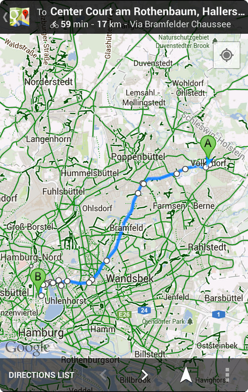 Navigation for cyclists on Google Maps - Google Maps update in Europe adds navigation for cyclists in six countries
