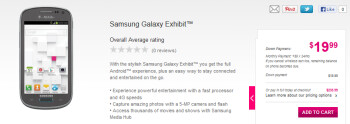 The Samsung Galaxy Exhibit is now available from T-Mobile