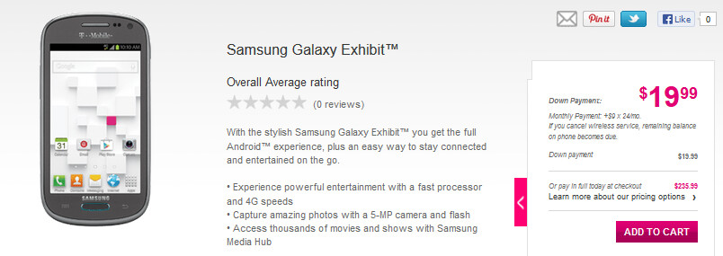 The Samsung Galaxy Exhibit is now available from T-Mobile - Samsung Galaxy Exhibit now available from T-Mobile