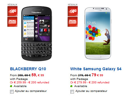 The BlackBerry Q10 outsells the Samsung Galaxy S4 at France's SFR - BlackBerry Q10 outsells the Apple iPhone 5, HTC One and Samsung Galaxy S4 in France