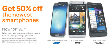 AT&T will sell you these hot models for 50% off with a signed contract and a trade