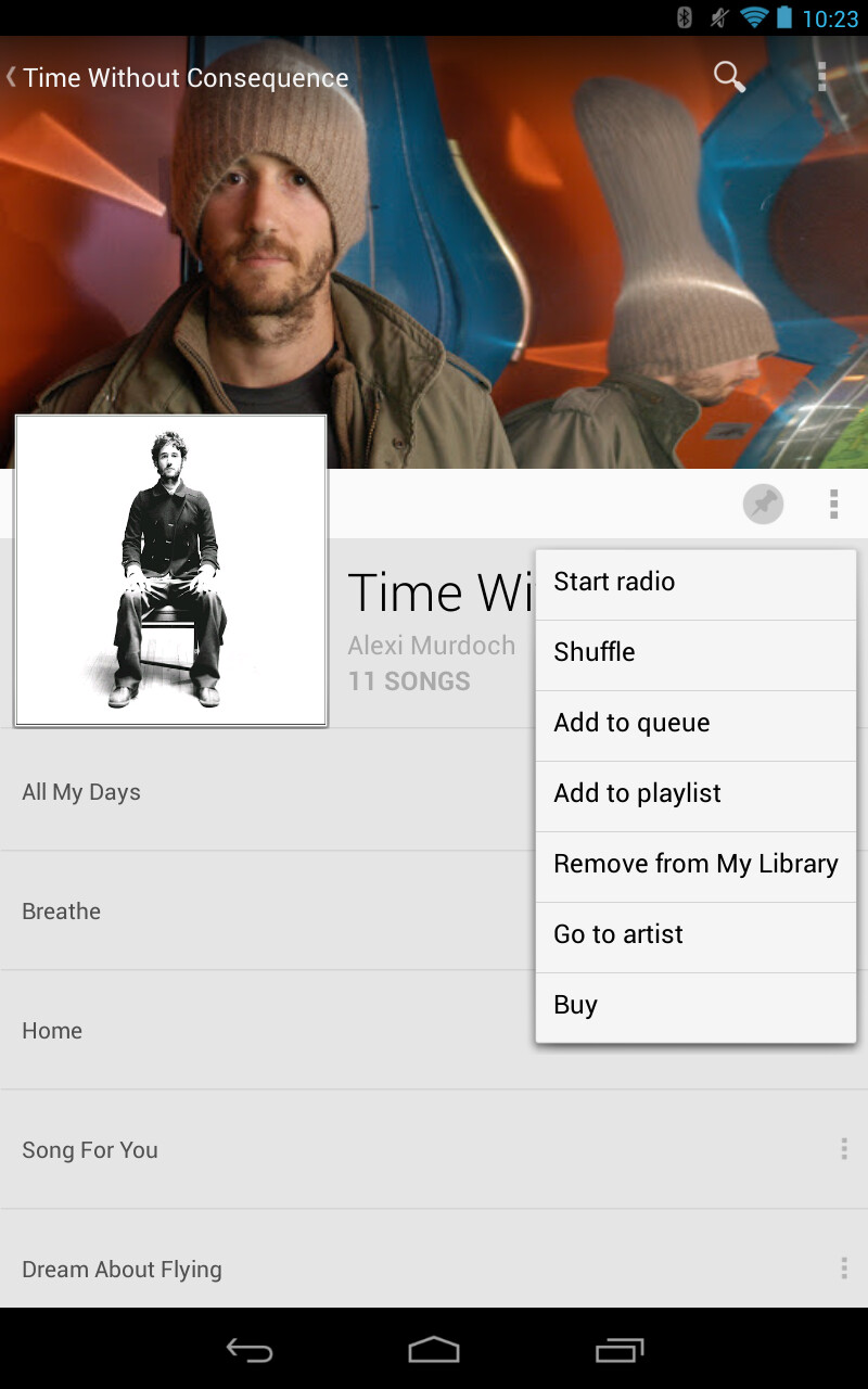 Google Play Music gets update to add Remove from Library