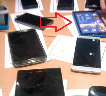 The rumored Nokia Lumia phablet with a closeup (L)