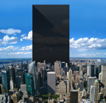 If you put the display of every Apple iPhone ever sold together, you would create this structure which would tower over the Big Apple