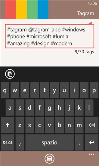 Tagram for Windows Phone