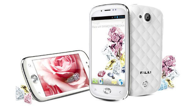 The BLU Armour is made for women - BLU Armour phone with crystal home button is made for the fairer sex