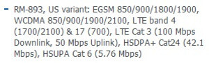 Specs from the Nokia Developer page show the Lumia 925 supports LTE on both T-Mobile and AT&T
