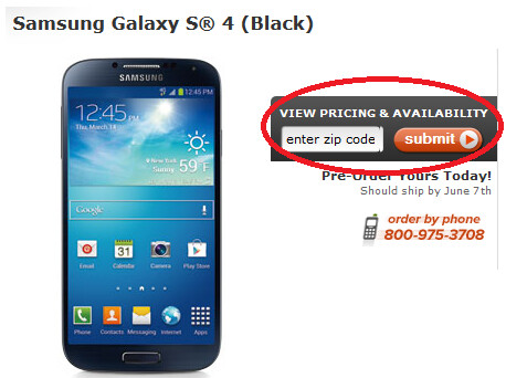 Pre-order the Samsung Galaxy S4 via Cricket - Pre-order the Samsung Galaxy S4 from Cricket