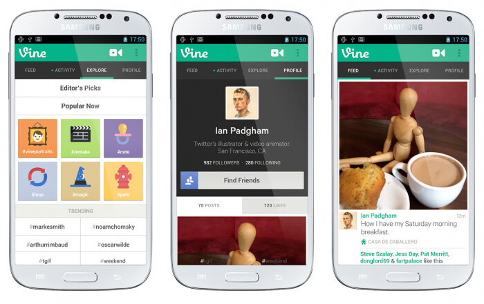 Vine comes to Android today after hitting 13M users