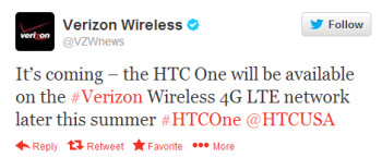 The HTC One is coming to Verizon