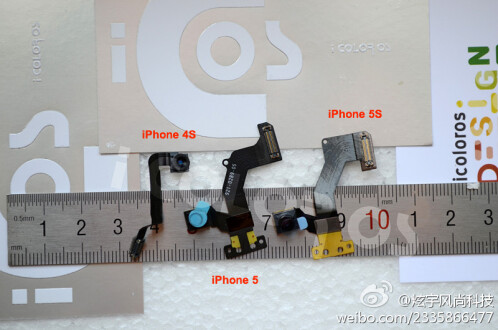 Parts from the Apple iPhone 4S, Apple iPhone 5 and Apple iPhone 5S