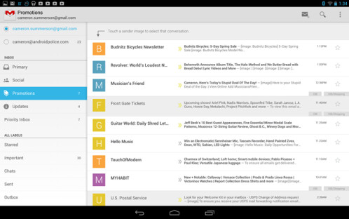 GMail for Android update
