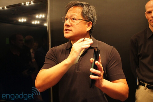NVIDIA's Huang demonstrates capacitive stylus