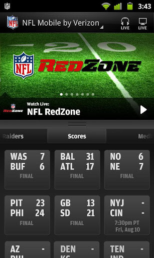 Screenshots from NFL Mobile for Android - Verizon to stream every 2014 NFL game over a handset
